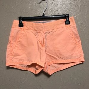 J Crew bright orange broken in chinos shorts